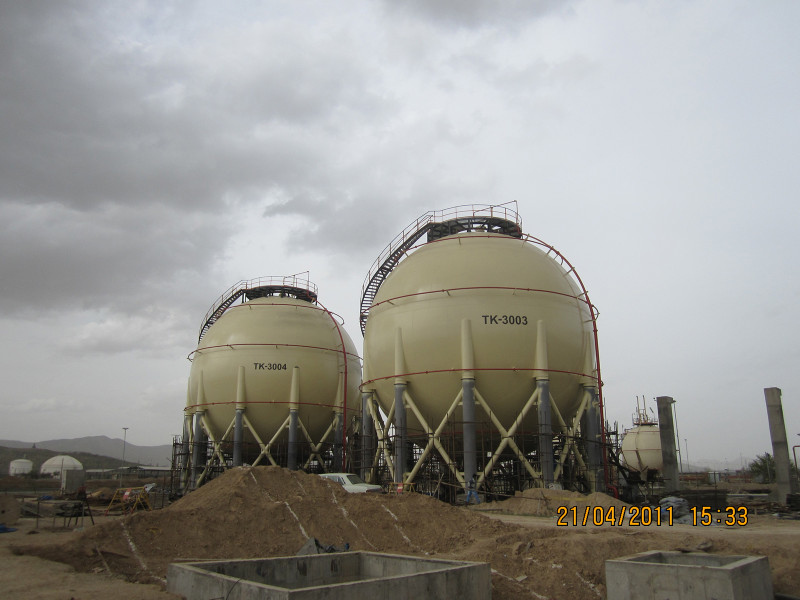 spherical tanks